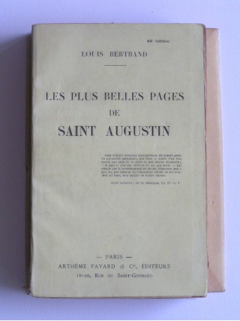 Louis Bertrand - Les plus belles pages de Saint Augustin