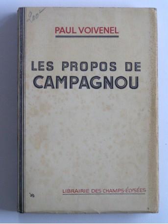 Paul Voivenel - Les propos de Campagnou