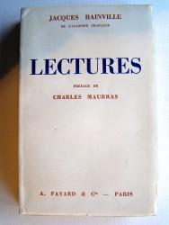 Jacques Bainville - Lectures