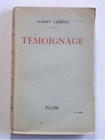 Albert Lebrun - Témoignage