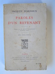 Jacques d'Arnoux - Paroles d'un revenant