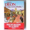 Michel Déon - Je vous écris d'Italie