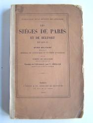 Comte de Geldern - Les sièges de Paris et de Belfort en 1870-1871