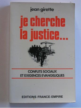 Jean Girette - Je cherche la justice
