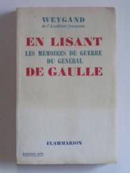 En lisant les mémoires de guerre du général De Gaulle