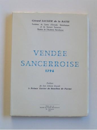 Gérard Saclier de la Batie - Vendée Sancerroise. 1796