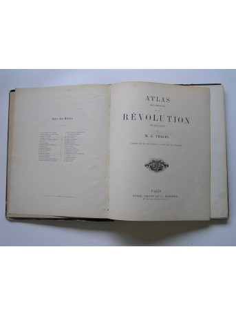 M.A. Thiers - Atlas des campagnes de la Révolution française
