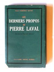 Les derniers propos de Pierre Laval