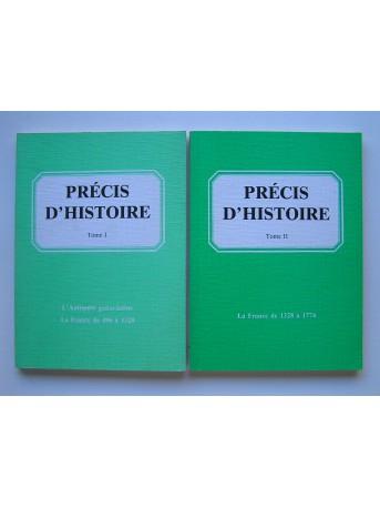 Collectif - Précis d'histoire. Tomes 1 & 2