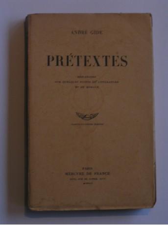 André Gide - Prétextes