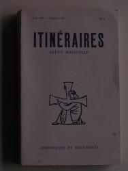 Itinéraires n°264. Chroniques et documents