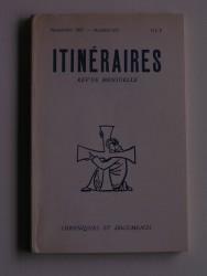 Itinéraires n°317. Chroniques et documents