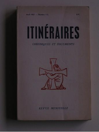Collectif - Itinéraires n°112. Chroniques et documents