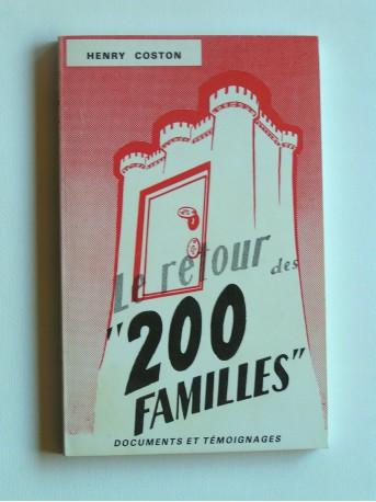 """Henry Coston - Le retour des """"200 familles"""""""